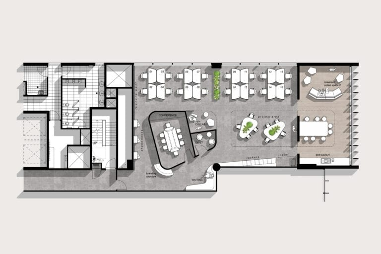 Level 3 (241sqm): Example of potential floorplan